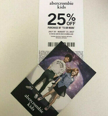 Abercrombie Kids Coupon 25% OFF $75 or more -Sale clearance  Exp 6/30/2020