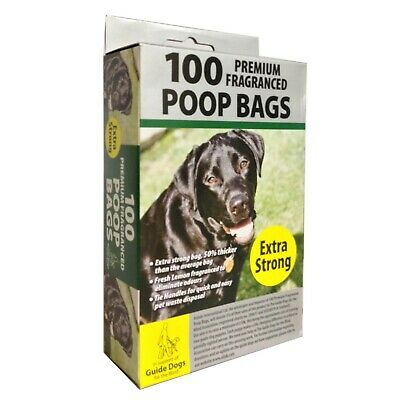Dog Poo Premium Lemon Scented Poop Bags Extra Strong Tie Handles Tidyz Doggy
