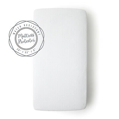 "JumpOff Jo - Terry Cotton Fitted Crib Mattress Protector - 28 x 52 x 9"" - White"