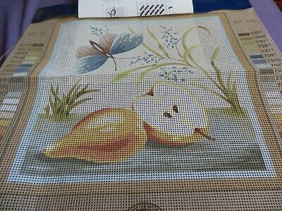 """DMC Tapestry Canvas Butterfies & Pears ' 12""""x 12"""" NO THREADS NEW"""