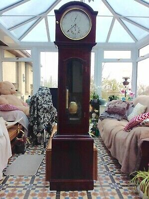 19th Century Mahogany Regulator longcase grandfather clock