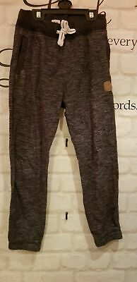 girls joggers Pants navy / black & grey size 7 - 8 yrs from F&F