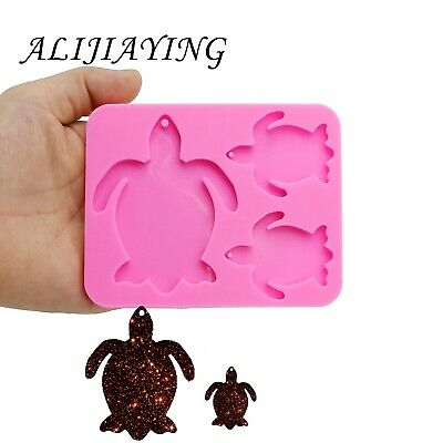 Turtle Family Silicone Mould Keychains Mold Clay Molder Fashion Jewelry Making