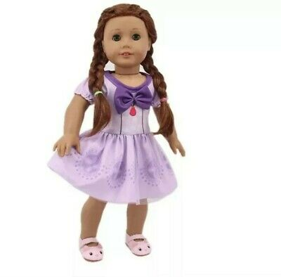 "For American Girl 18"" Inch Dolls Princess Dress Clothes Outfit Accessories Set"