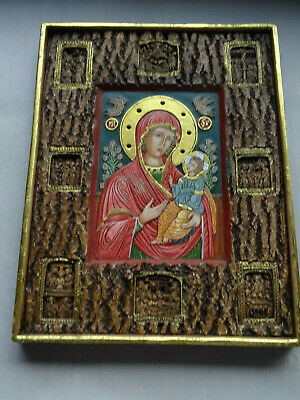 Russisch Orthodoxe Relief Icon Ikone Muttergottes