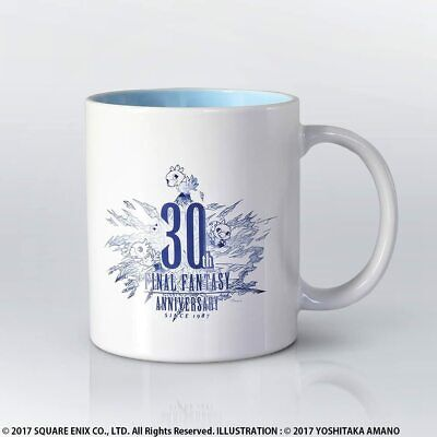 Final Fantasy 30th Anniversary Mug -Discontinued coffee cup! NEW Japanese import
