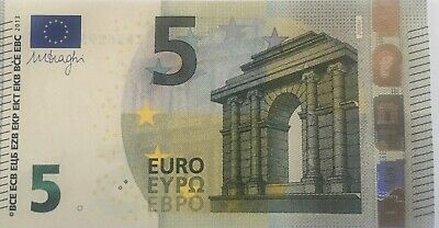 Leftover 5 Euro Notes. Used.
