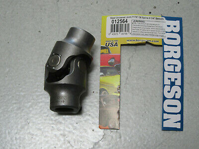 13464 Borgeson Steering Universal Joint Single Joint 3//4 in 36 Spline to 3//4 …