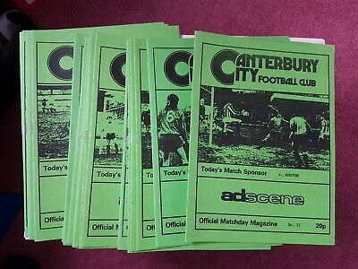 Canterbury City Home Programmes 1991/92