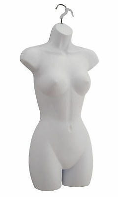 Clothing Displays Torso Form Fits 5 to 10 Hanging Female Mannequin Hollow