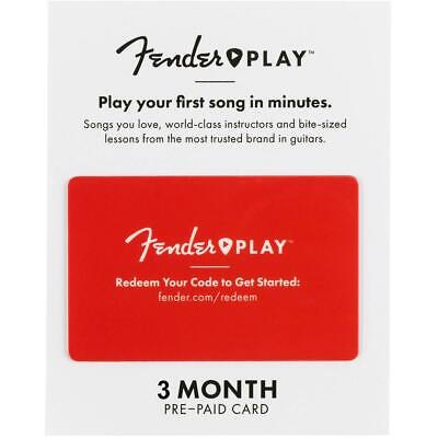 Fender Play 3 MONTH Prepaid Subscription Digital Code (Email Delivery)