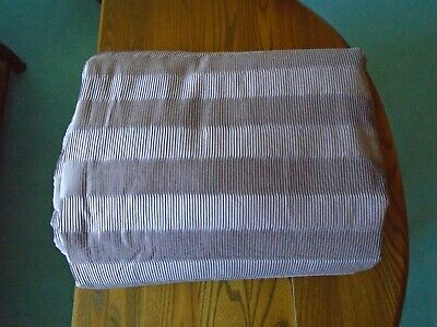 NEXT MAUVE PLEATED BED COVER / THROW 150cm x 200cm NEW