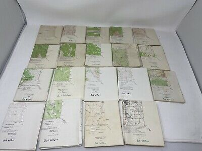 Vintage Colorado Topographic USGS Maps Lot of 19 Quadrangle