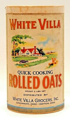 Early White Villa 3 Lbs. Rolled Oats Container, Cincinnati - Dayton, Ohio