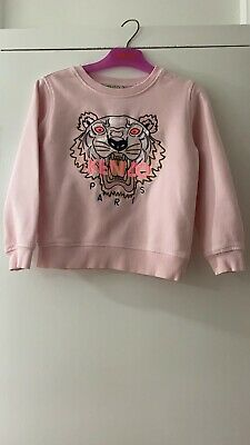 kenzo Girls Pink Sweatshirt Age 6 Years Used But In Very Good Condition.