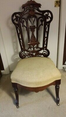 Belter Carved Rosewood Slipper Chair Rococo Style 19Th Cent