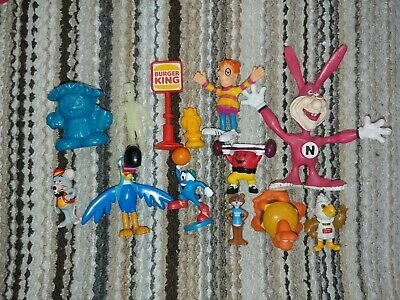 Vintage 70s 80s 90s 00s advertising figures lot bendy noid burger King cereal