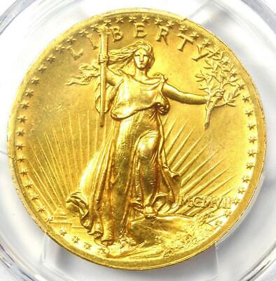 1907 High Relief Saint Gaudens Gold Double Eagle $20 Coin - PCGS AU Details!