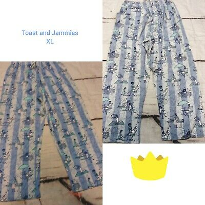 Toast & Jammies Women's PAMPER ME PJ Pants with Rib Waistband Sz.XL  NWT EUC