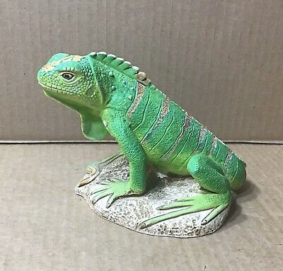 Coad Peru Hand Painted Iguana Figurine Pottery Statue ~ Collectible