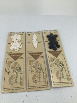 Vintage Wright Frog Closure 3 Packages Black And White