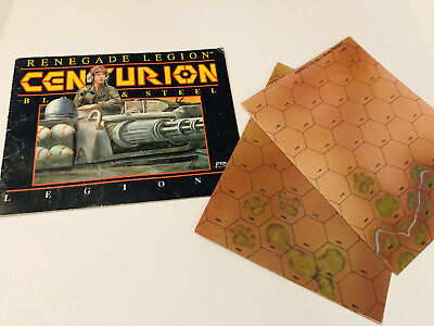 1988 Renegade Legion Centurion Blood & Steel Legions Book & Map Sheets FASA Corp
