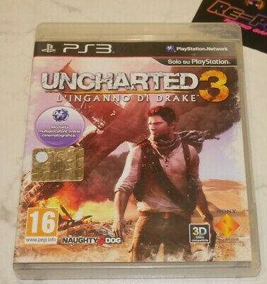 Uncharted 3: L'inganno di Drake Sony Playstation 3 PS3 PAL ITA Completo
