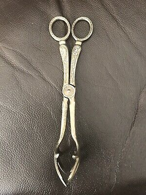 Sugar Tongs Silver Plated Antique