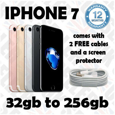 Apple iPhone 7 - 32gb to 256gb - UNLOCKED SMARTPHONE 12 months WARRANTY