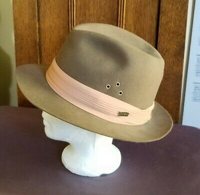 DOBBS BROWN FEDORA with FABRIC WRAP ~ MEDIUM