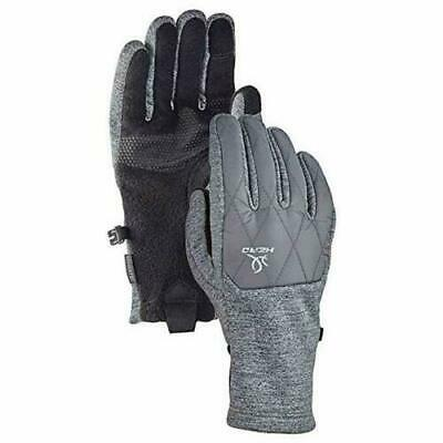 New! Head Womens Hybrid Glove Gray/Black L |Ae6