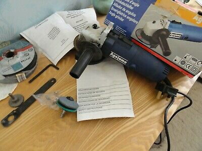 Agojama Angle Grinder WITH 125mm metal cutting blades / disc & sanding stone