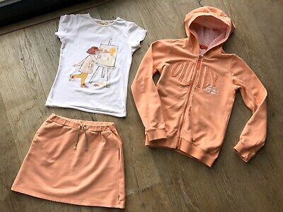 Oilily Girl Outfit Age 12 Peach 🍑 Skirt, Top & Hoddie