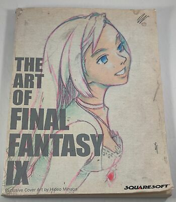 The Art Of Final Fantasy IX Book Squaresoft 2001 Paperback