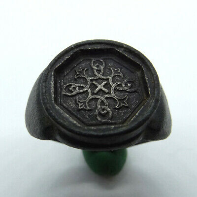 Celtic Scandinavian Ancient Artifact Silver Cross With Celtic Cnot And Cross