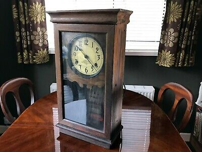Wall Clock Vintage - From Mill, International Time Recording,  Antique Electric
