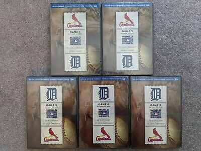 NEW 2006 World Series Detroit Tigers vs St. Louis Cardinals Game 1 2 3 4 5 DVD