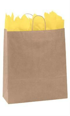 "Paper Shopping Bags 200 Kraft Gift Merchandise 16"" x 6 x 19"" H Recycled Retail"