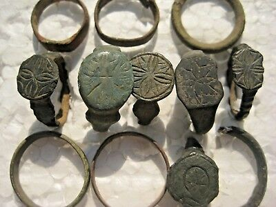 ANCIENT Bronze Rings Find Ancient ROMAN MEDIEVAL ARTIFACT
