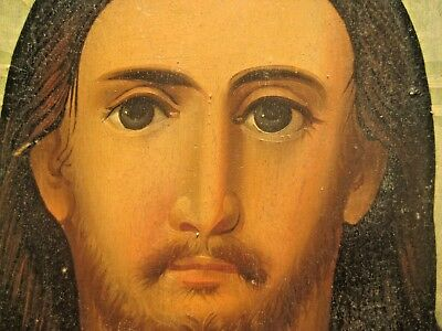 19th century Antique Russian Orthodox Icon Christ Pantocrator Россия