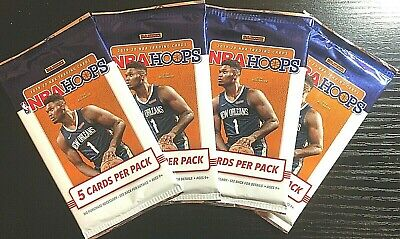 2019-20 NBA Hoops pack Zion RC Yellow Parallel HOT LOT OF 4 PACKS