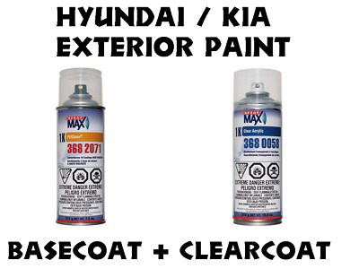 Hyundai / Kia Do It Yourself Car Paint B/C Spraycan Kit, Many Colors To Choose