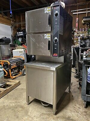 Groen HY-6G 2-Compartment Nat Gas HyperSteam Convection Steamer - 45,000 BTU