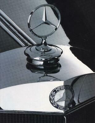 1988 Mercedes S-Class 2 page Ad / Great Art/560SEL/420SEL/300SEL