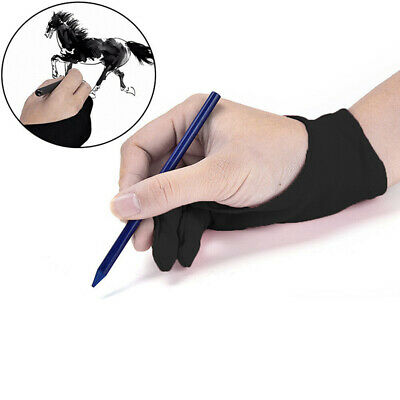 Black Two Finger Anti-fouling Glove For Artist Drawing & Pen Graphic Tablet Pad