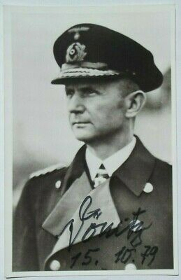 Karl Donitz German Naval Commander WW II Autograph Signed Photo ''Nice Example'