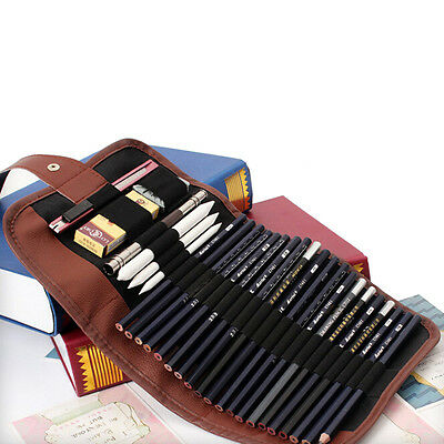 24x Set Sketch Pencils case Charcoal Extender Pencil shade Cutter Drawing BaY ij