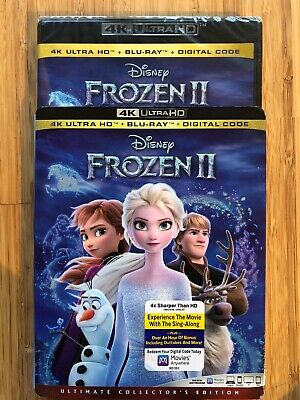 Frozen 2 4k Ultra HD/Blu-ray/Digital Code HD Brand New Slip Cover Collector's Ed