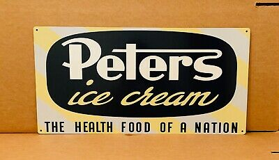 NEW Peters Ice Cream non distressed tin metal sign