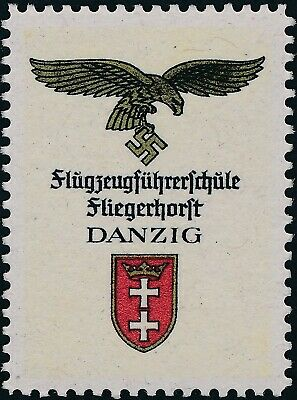 Stamp Replica Label Germany 0041 WWII Flight of the Fuhrer Hitler Danzig MNH